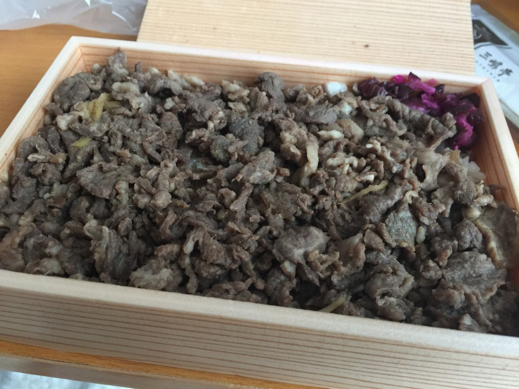 三嶋亭の牛しぐれ弁当
